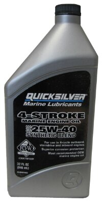 Quicksilver 4-cycle 25W-40 synthetic 1 L