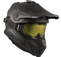CKX Шлем Titan Solid Black with matt goggle