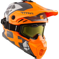 CKX Шлем + очки TITAN Airflow Steep orange/grey