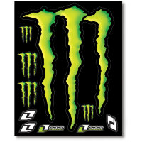 4MIL. SHEET LARGE MONSTER DECAL 15""