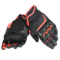 Перчатки мужские DAINESE CARBON D1 SHORT - BLACK/BLACK/FLUO-RED