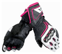 Перчатки женские DAINESE CARBON D1 LONG LADY - BLACK/WHITE/FUCHSIA