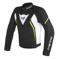 Куртка мужская DAINESE AVRO D2 TEX - BLACK/WHITE/YELLOW-FLUO