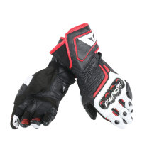 Перчатки мужские DAINESE CARBON D1 LONG - BLACK/WHITE/LAVA-RED